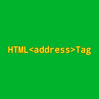HTML <address> Tag