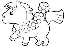 Printable Adorable Pony Coloring Pages
