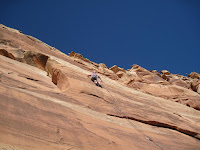 Sport climbing in the Colorado National Monument