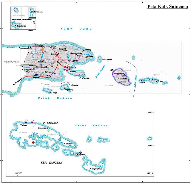 Peta Kabupaten Sumenep HD