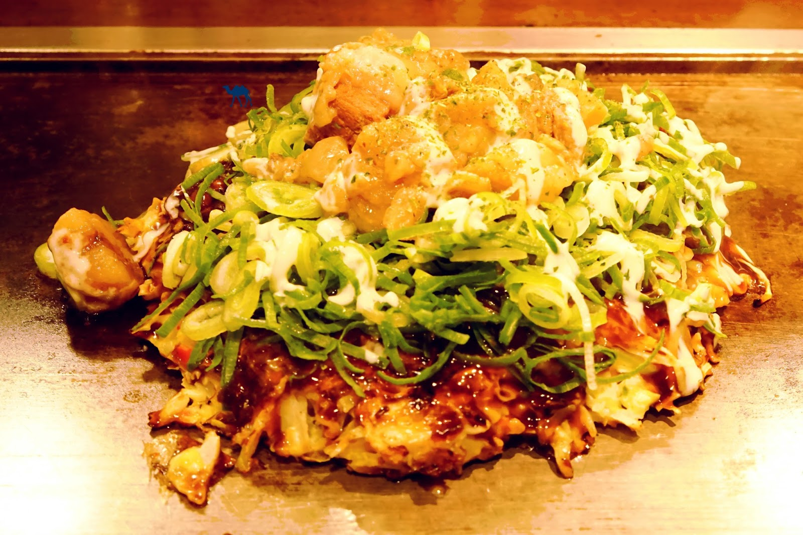 Le Chameau Bleu - Spécialité Japonaise Okonomiyaki d'Osaka - Japon