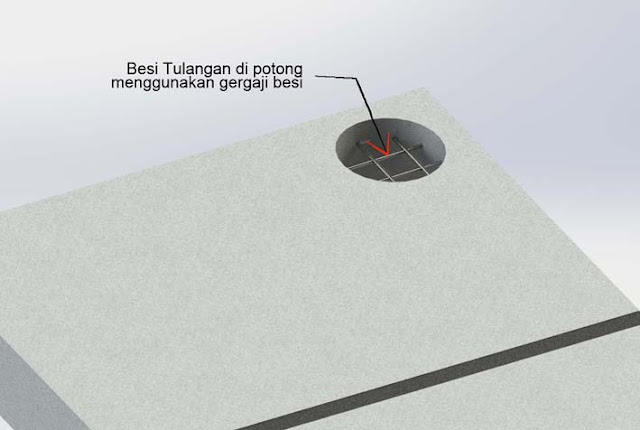 Cara Membuat Lubang Floor drain pada PANEL LANTAI AAC