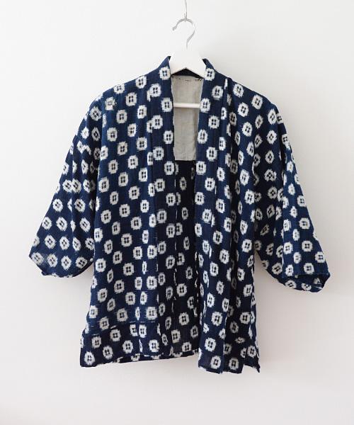 野良着 FUNS 藍染 絣 刺し子 継ぎ接ぎ ジャパンヴィンテージ 30年代 Noragi Jacket Kasuri Sashiko Indigo Dyed Japanese Vintage 30s