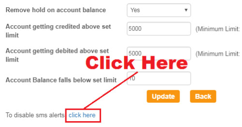how to deactivate sms alert in sbi account