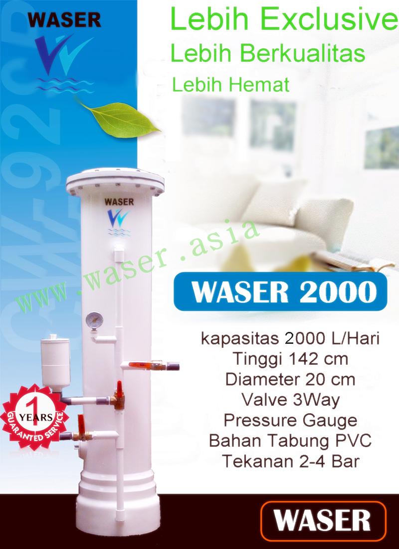 Filter Penjernih Air Rumah Tangga Waser 2000