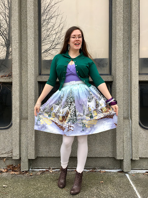 lavender vamp top bernie dexter winter wonderland skirt