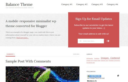 Template Blogger BALANCE THEME