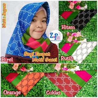 jilbab segi empat motif gucci