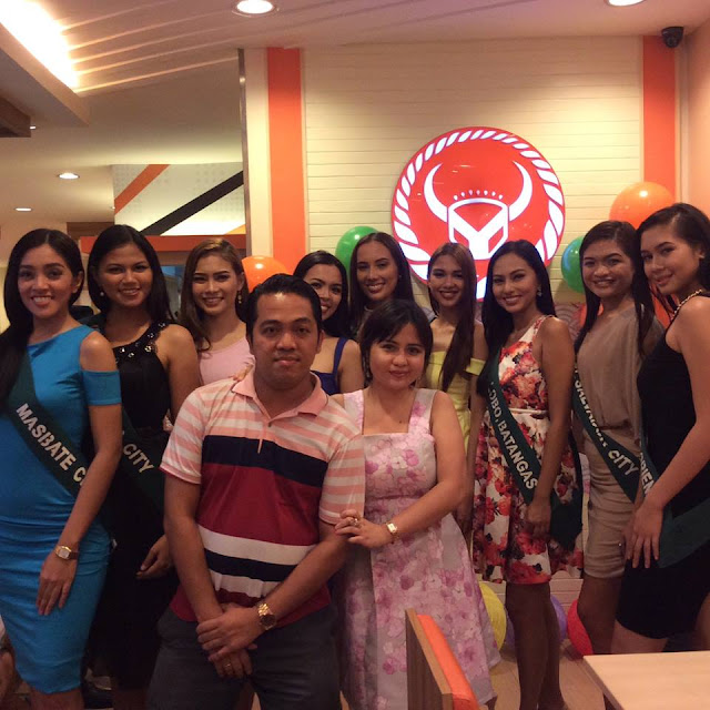 Ms. Earth Philippines beauties from Masbate City, Mandaluyong City, Ozamiz City, Makati City, New Zealand, Camiling, Tarlac, Lobo, Batangas, El Salvador City, and Villanueva, Misamis Oriental.