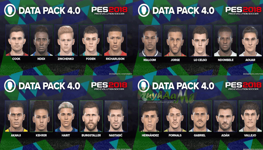 DATA PACK PES 2018 CPY