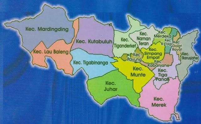 Perbedaan Tanah Karo dan Taneh Karo, Nama Desa Kelurahan yang termasuk Tanah Karo dan Taneh Karo