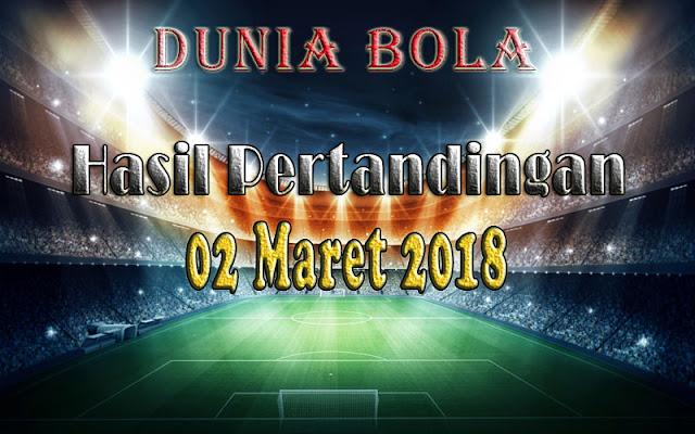 Hasil Pertandingan Sepak Bola Tanggal 02 Maret 2018