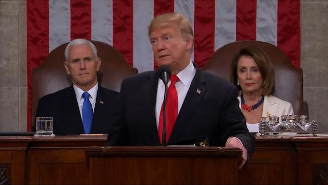 Trump promete finalizar su muro en su discurso ante el Congreso