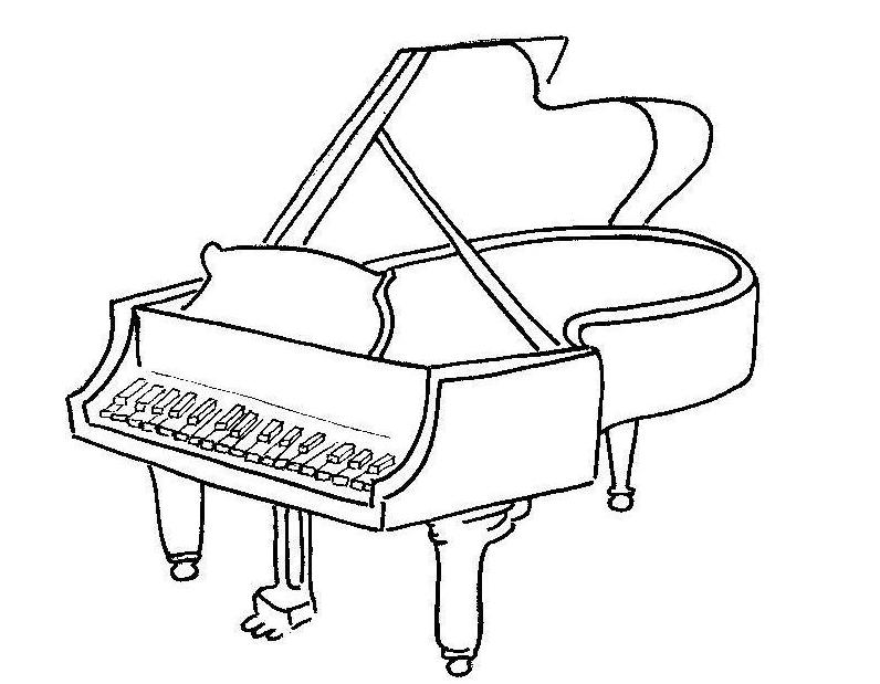 Piano Para Colorear Y Pintar Dibujo Views