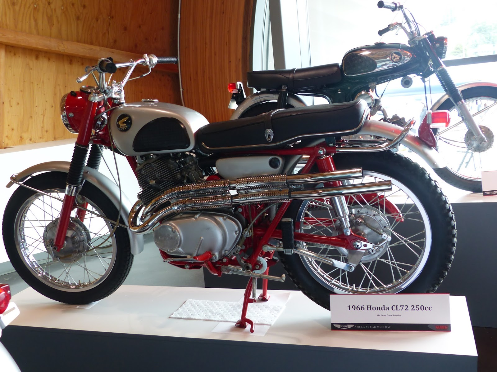 Honda Cl72 Exhaust Pipe T Wiring 1966 250cc Scrambler On Display At Lemay Americas Car Museum Tacoma Wa