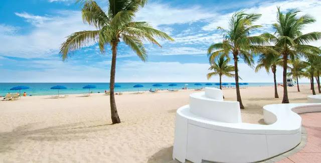 Praia de Fort Lauderdale na Flórida