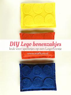 DIY Lego bonenzakjes - leuk voor spelletjes op een Lego-feestje