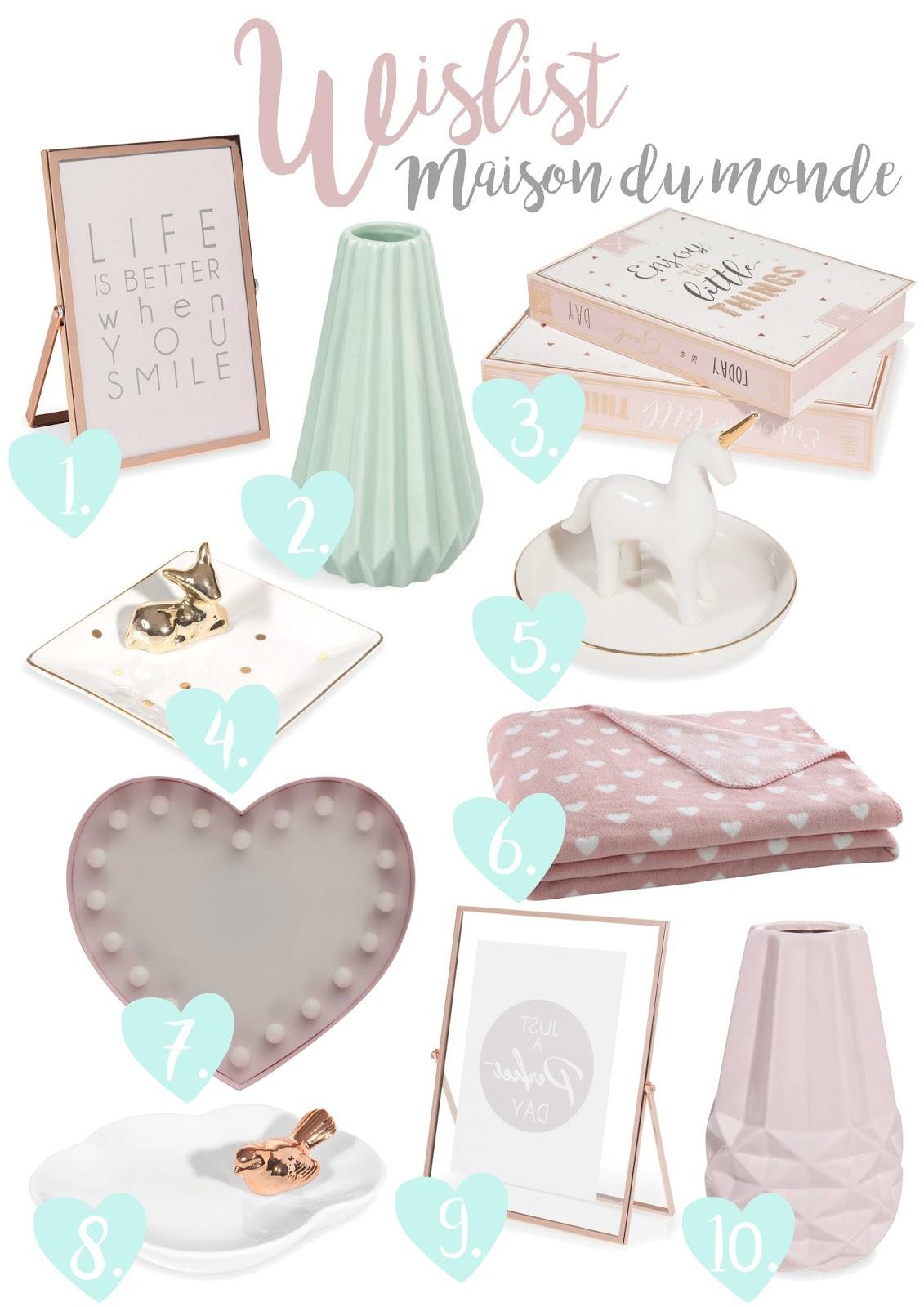 ma wishlit maison du monde rose mademoiselle. Black Bedroom Furniture Sets. Home Design Ideas