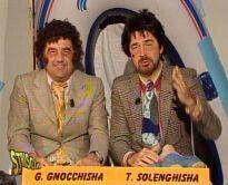 Gene Gnocchi e Tullio Solenghi, i due conduttori di ''Striscia la Berisha''