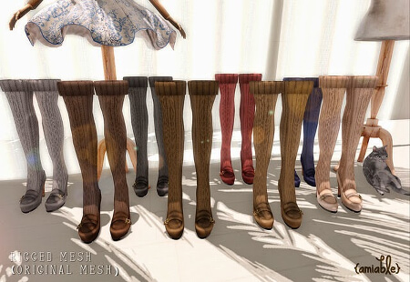 {amiable}Knit socks Knee-high Boots