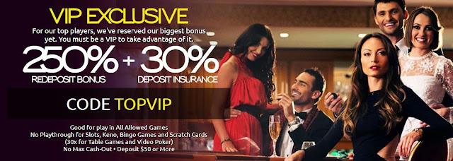 Club Player casino VIP match bonus