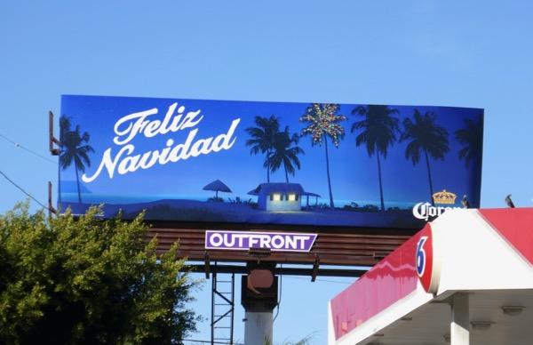 Corona Feliz Navidad billboard