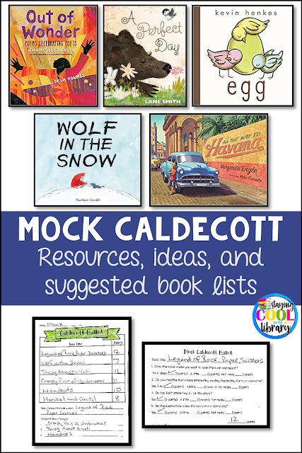 Caldecott Medal lesson plan, resources and printables