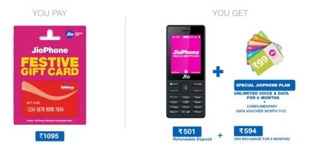 jio phone gift card offer