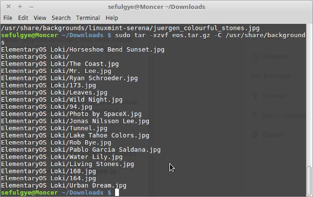 cara menambahkan wallpaper elementary os di Linux mint cara menginstall wallpapaer elementary os ke linux mint