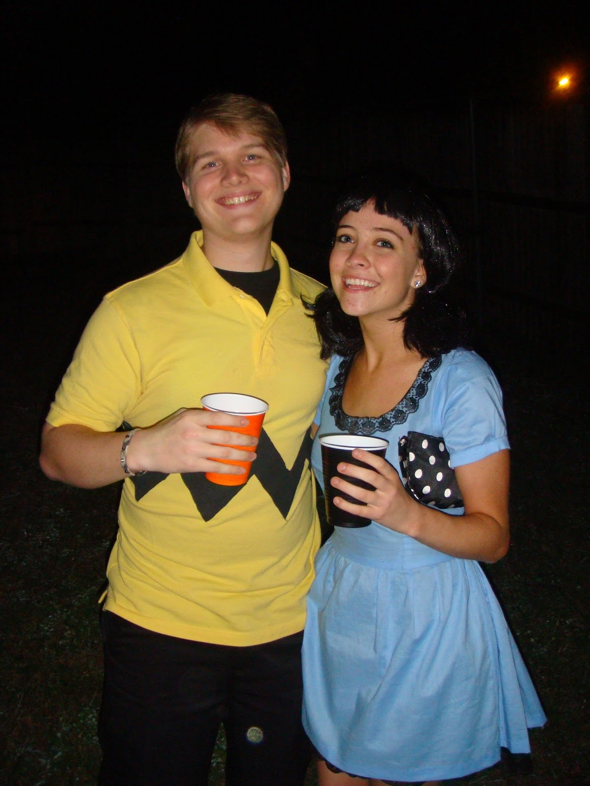 This was one of my very first sewing projects when I sewed this dress by hand and Mattu0027s costume was easy with black shorts a cheap yellow polo and some ...  sc 1 st  magenta and lime & magenta and lime: couple costume ideas