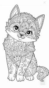 St Patrick's day 2018 cat coloring page