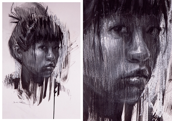 02-Rafa-Mir-Expressive-Charcoal-and-Pastel-Drawings-and-Acrylic-Paintings-www-designstack-co