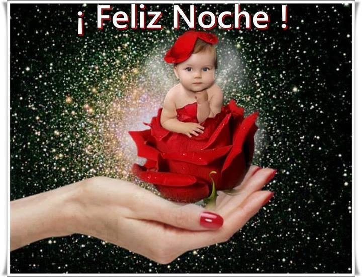 bebé rosa roja Feliz Noche