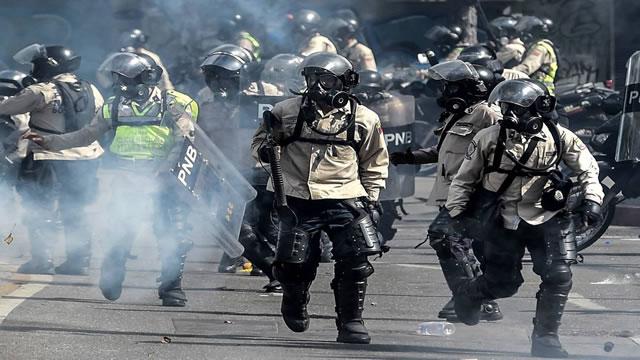 Represión con cabillas y metras muestra criminalidad de fuerza pública