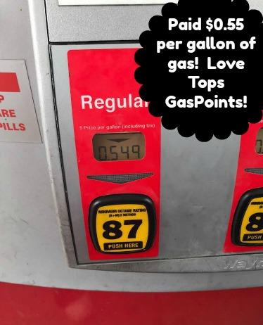 tops gaspoints savings