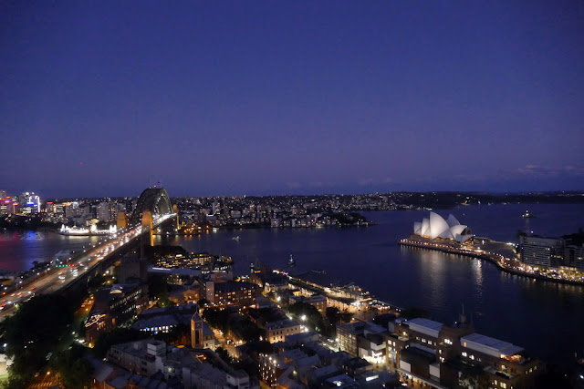Sydney, Nacht, Night, Harbour Bridge, Opernhaus, Panorama, Aussicht ,Traumstadt