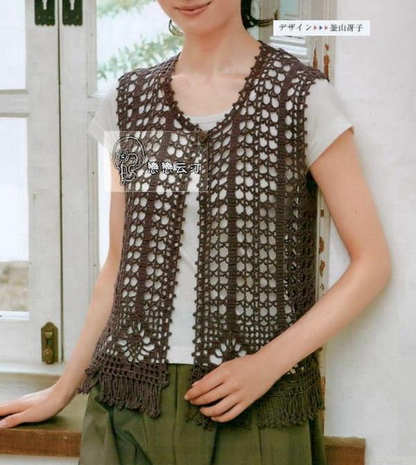 Crochet Sweaters Crochet Vest Pattern Free Lace Vest For Women