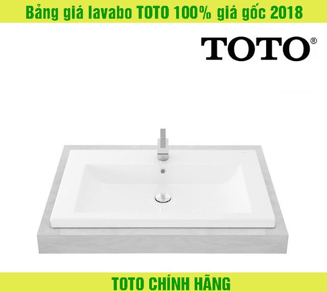 Bảng giá lavabo TOTO 100% giá gốc 2018