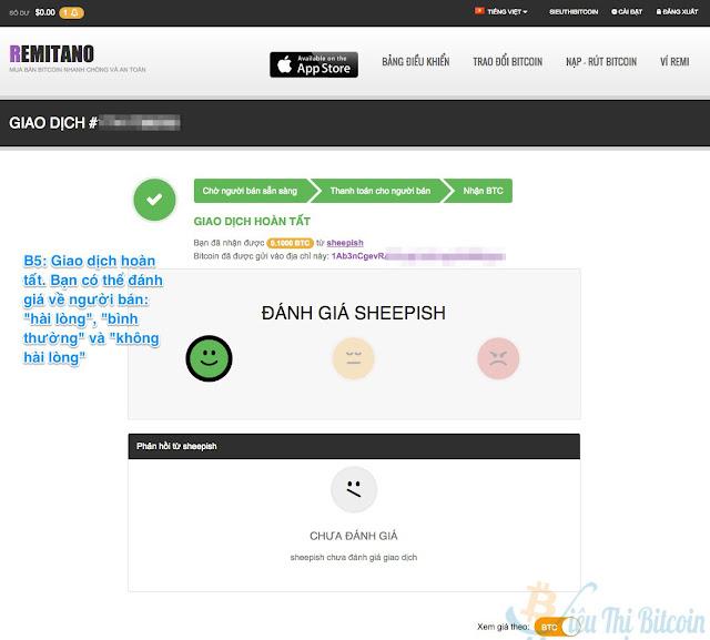 Hướng dẫn cách mua bán bitcoin trên remitano
