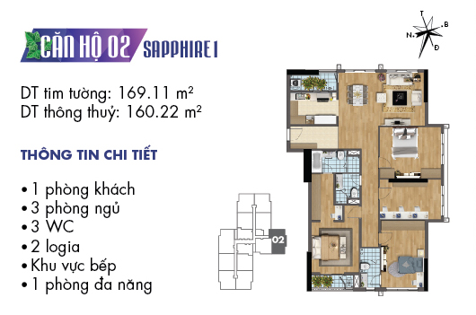 căn hộ 02 sapphire 1