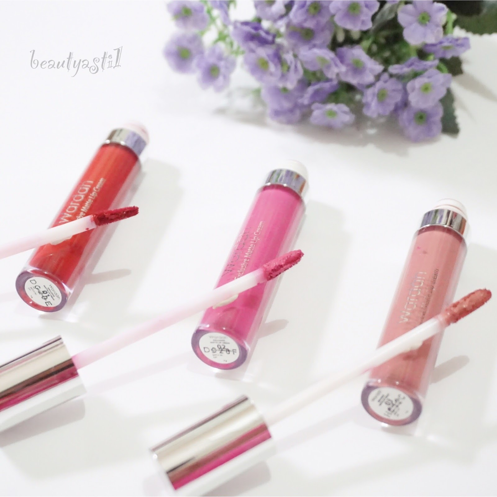 FULL SWATCHES : WARDAH EXCLUSIVE MATTE LIP CREAM REVIEW NO