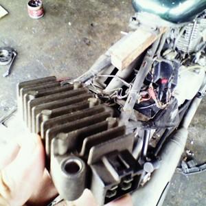 Modenas Jaguh 175 - Regulator Voltage Ractifier Rosak