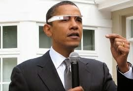 Obama Wearing Google Glass