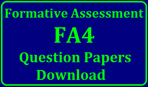 Formative Assessment FA 4 Model Slip Test Question Papers