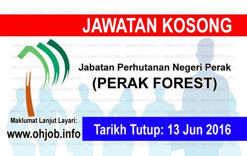 Jawatan Kerja Kosong Jabatan Perhutanan Negeri Perak logo www.ohjob.info jun 2016