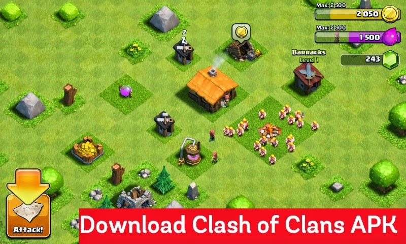 download clash of clans apk for android free strategy game