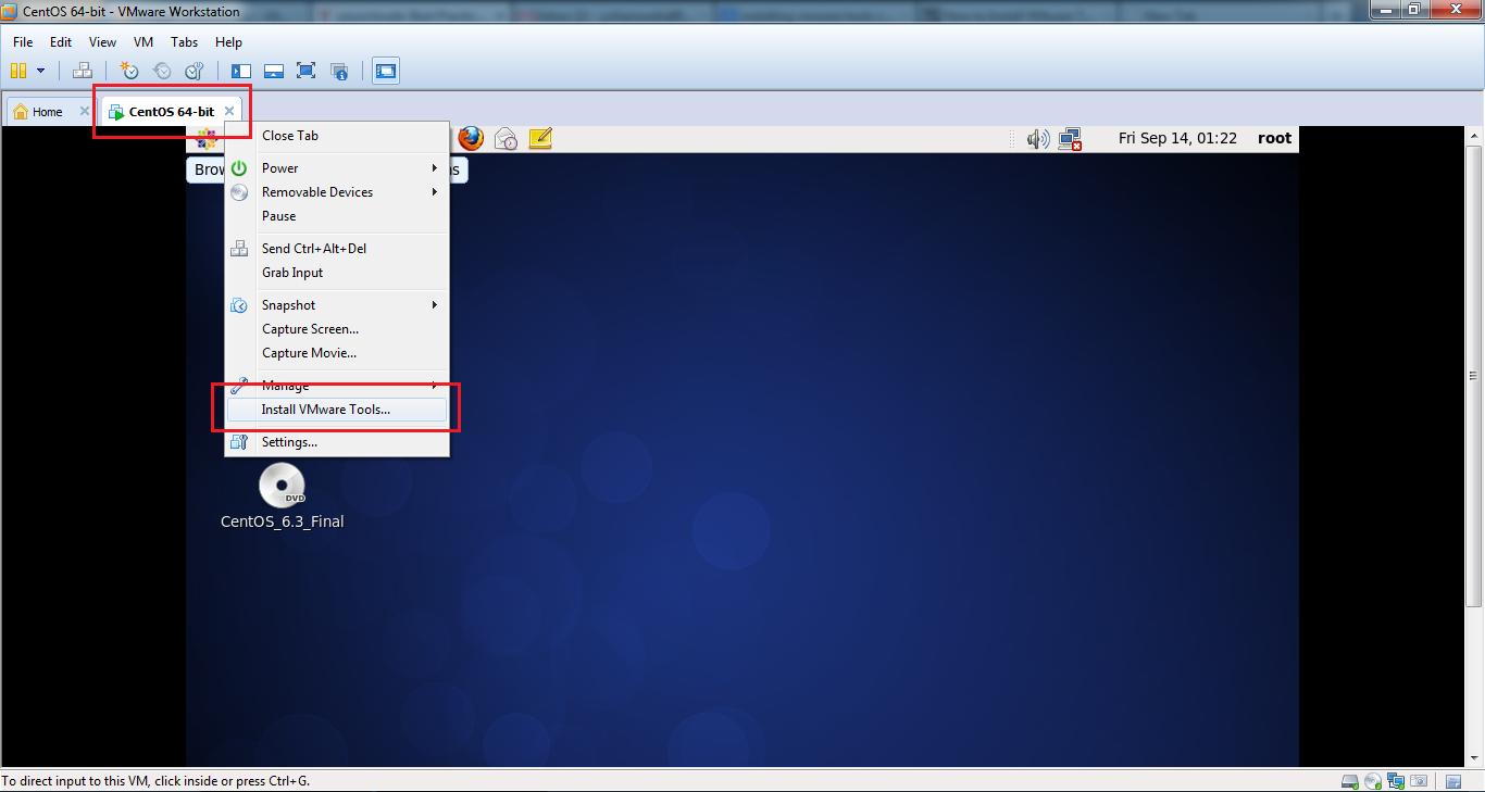 install vmware tools centos esxi 6