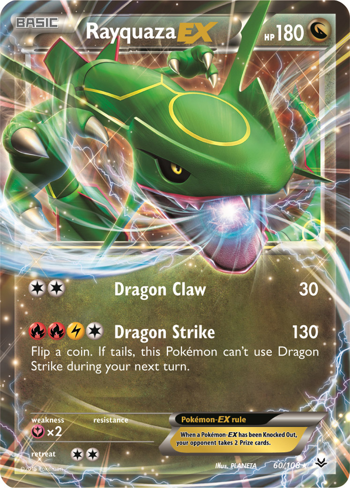 Rayquaza EX 60/108 -- Roaring Skies Pokemon Card Review ...