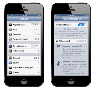 How to enable personal hotspot feature on iPhone