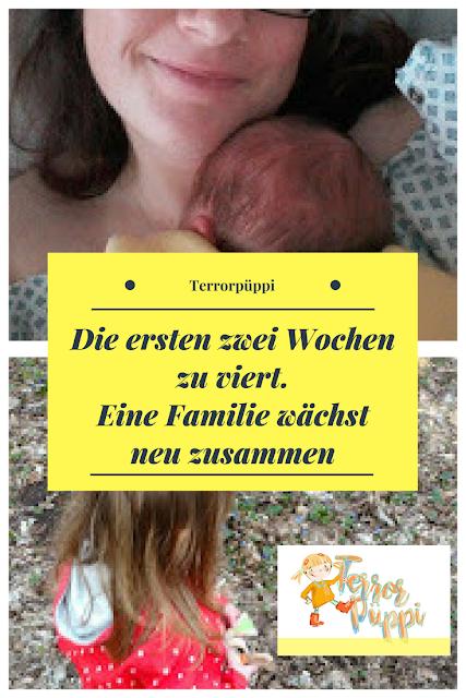 Die ersten zwei Wochen zu viert. Eine Familie wächst neu zusammen | Terrorpüppi | Reflektiert, bedürfnisorientiert, gleichberechtigt